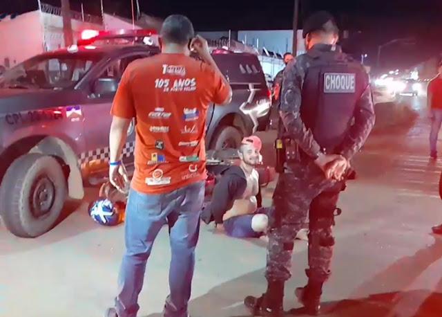 Apenado monitorado é preso no dia do aniversário após perseguição na zona leste