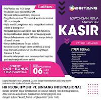 Lowongan Kerja PT Bintang Internasional Makassar