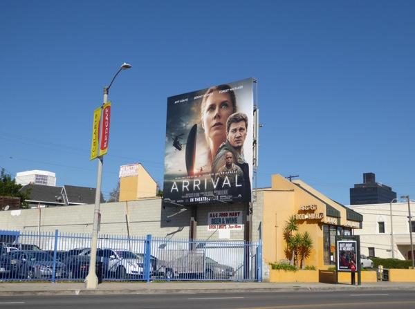 Arrival movie billboard