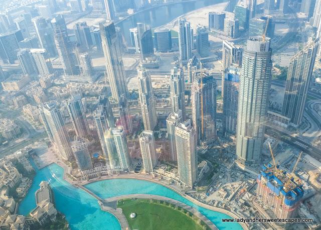 view of Downtown Dubai from Atmosphere Burj Khalifa