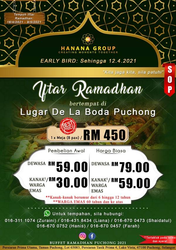 Buffet ramadhan sedap dan murah 2021