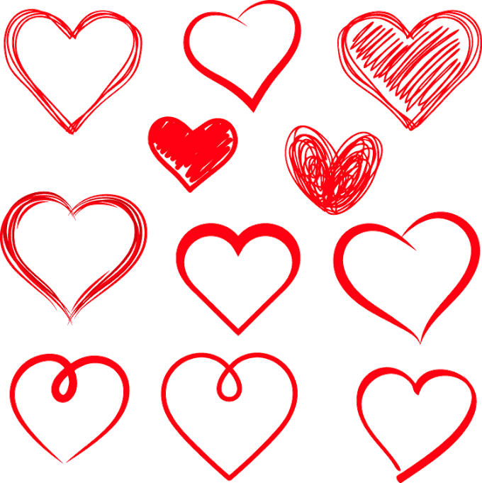 Drawing Heart, Cute heart, love, text, hearts png