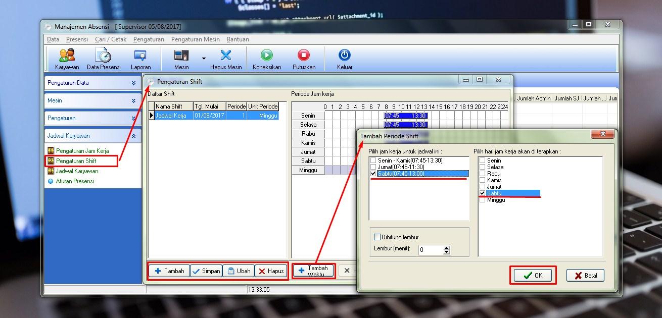 Cara Membuat Jadwal Kerja Karyawan FingerPrint - Kampus Office