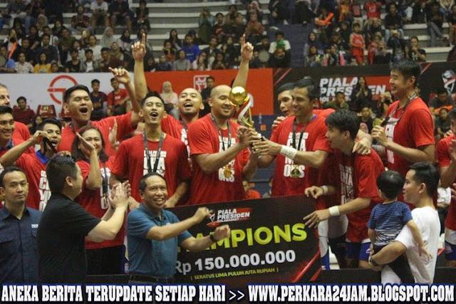 Tim Satria Muda Juara Piala Presiden Bola Basket 2019