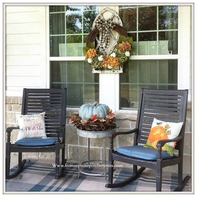 DIY-Fall -Hydrangea -Wreath-Fall-Decor-Fall-Porch-Rocking-Chairs-From My Front Porch To Yours