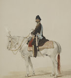 Nasir al-Din Shah on Horseback by Mihaly Zichy - History, Portrait Drawings from Hermitage Museum
