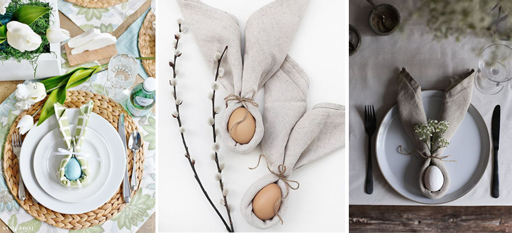 diy como decorar servilletas con orejas de conejo y huevo para pascuas semana santa happy easter