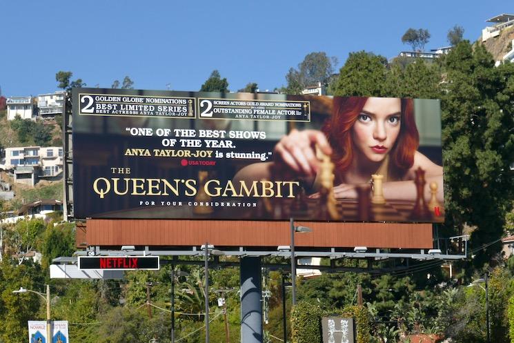 Queens Gambit awards nominee billboard