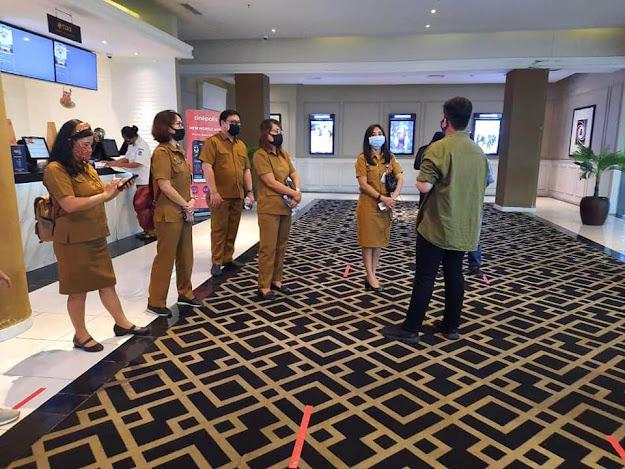 Dispar Kota Manado tinjau Kesiapan Beroperasinya Bioskop di beberapa Moll di Kota Manado