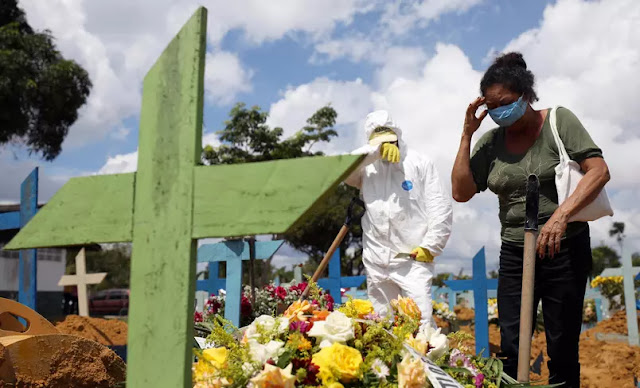 Brasil ultrapassa 400 mil mortes por Covid-19