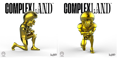 ComplexLand Exclusive The Messenger Gold Edition Resin Figure by kaNO x Munky King