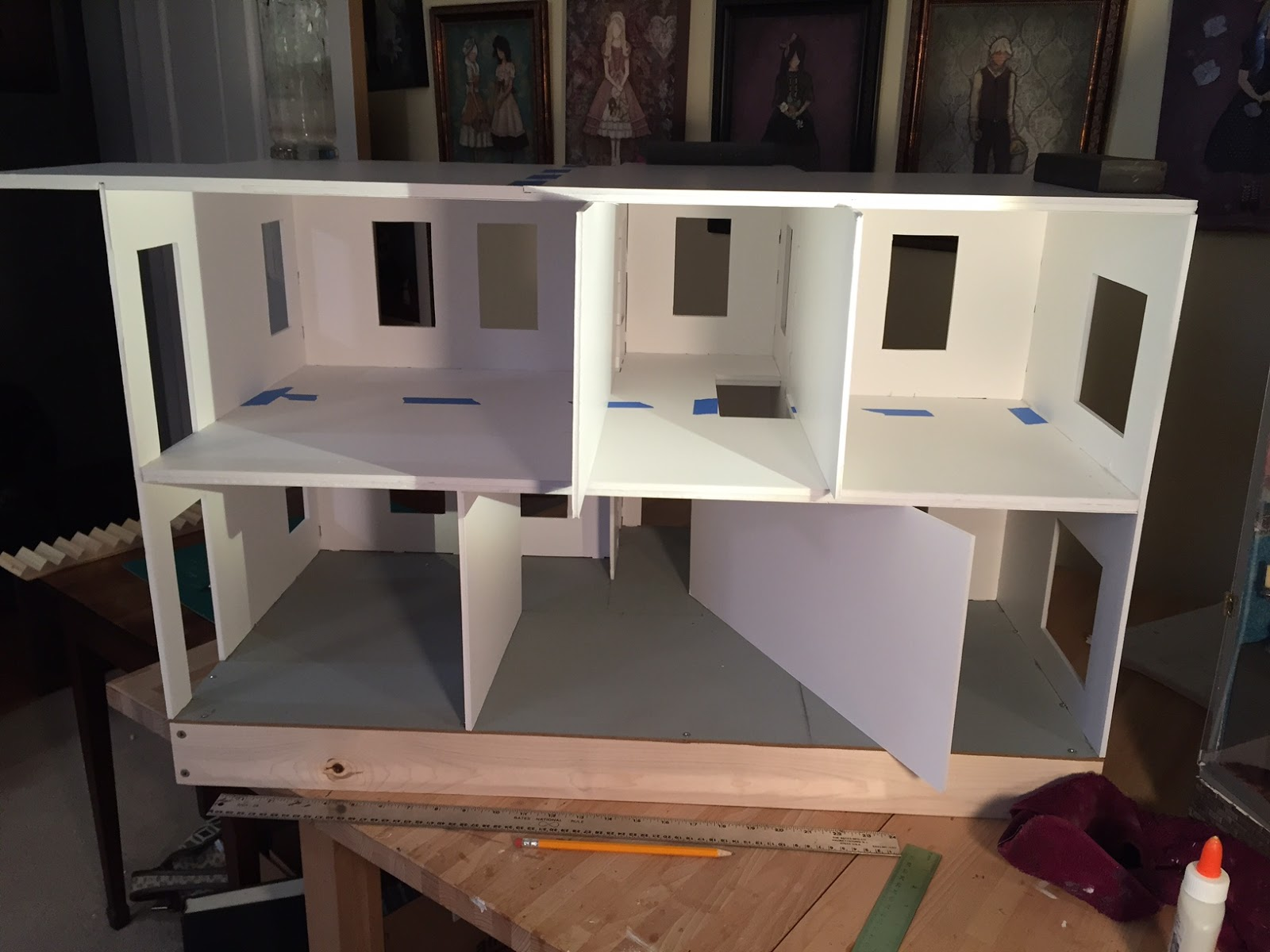 Building A Dollhouse Using Foam Board The Kinfeld