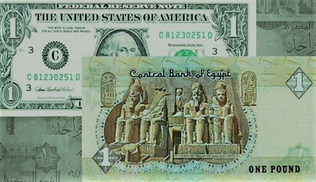 الجنيه المصري مقابل الدولار والعملات