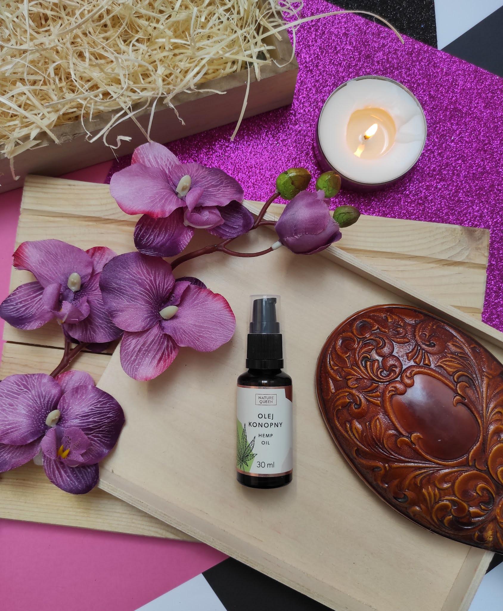 Nature Queen olej konopny - idealny do pielęgnacji skóry trądzikowej