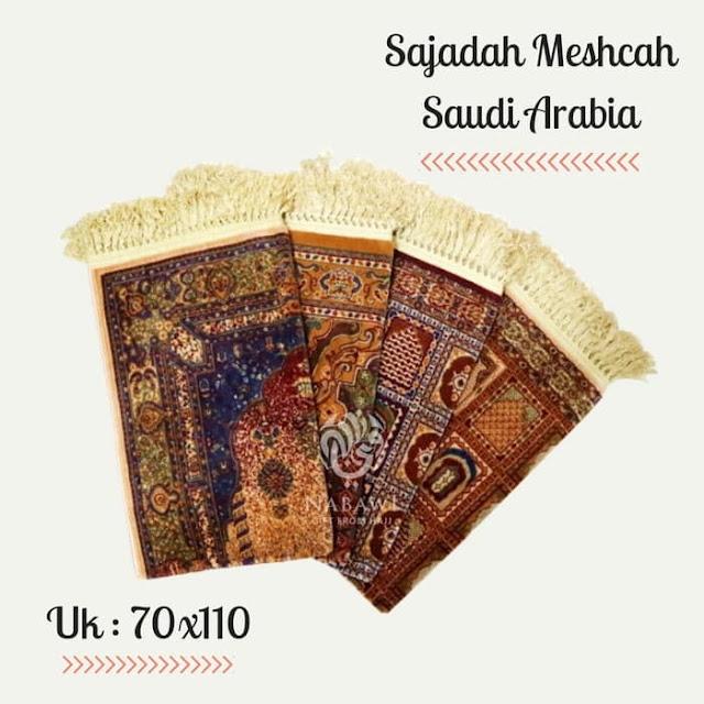 Sajadah Meshcah Arab Saudi, oleh oleh haji dan umroh, perlengkapan ibadah haji dan umroh, perlengkapan ibadah solat.
