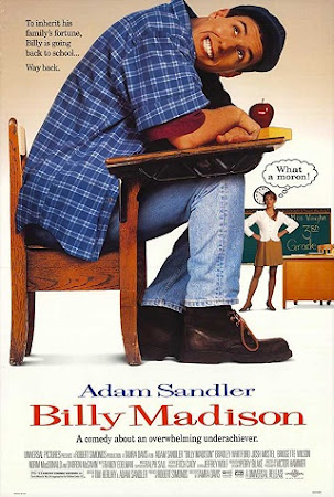 Poster Of Billy Madison In Dual Audio Hindi English 300MB Compressed Small Size Pc Movie Free Download Only At worldfree4u.com