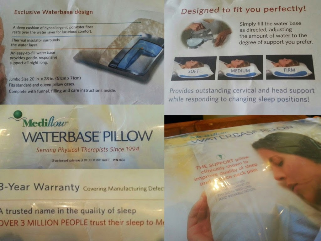 Mediflow Waterbase Pillow Packaging information