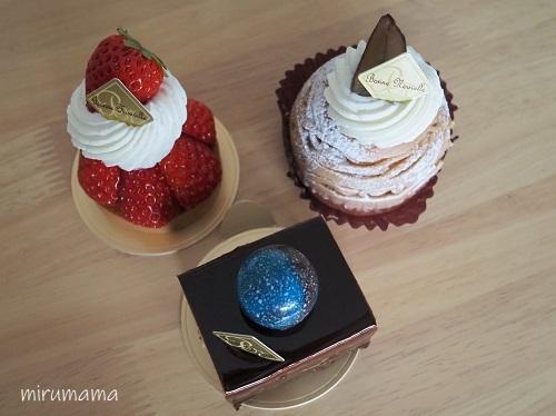 ケーキ3種類