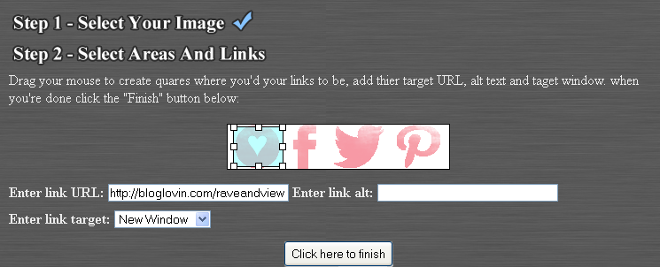 how to make an image have multiple links