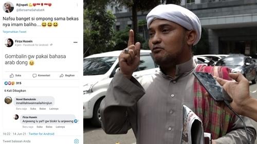 Jejak Digital Diduga Novel Bamukmin di Status Firza, Netizen: Ompong Nafsu Banget Sama Bekasnya Imam Baliho!