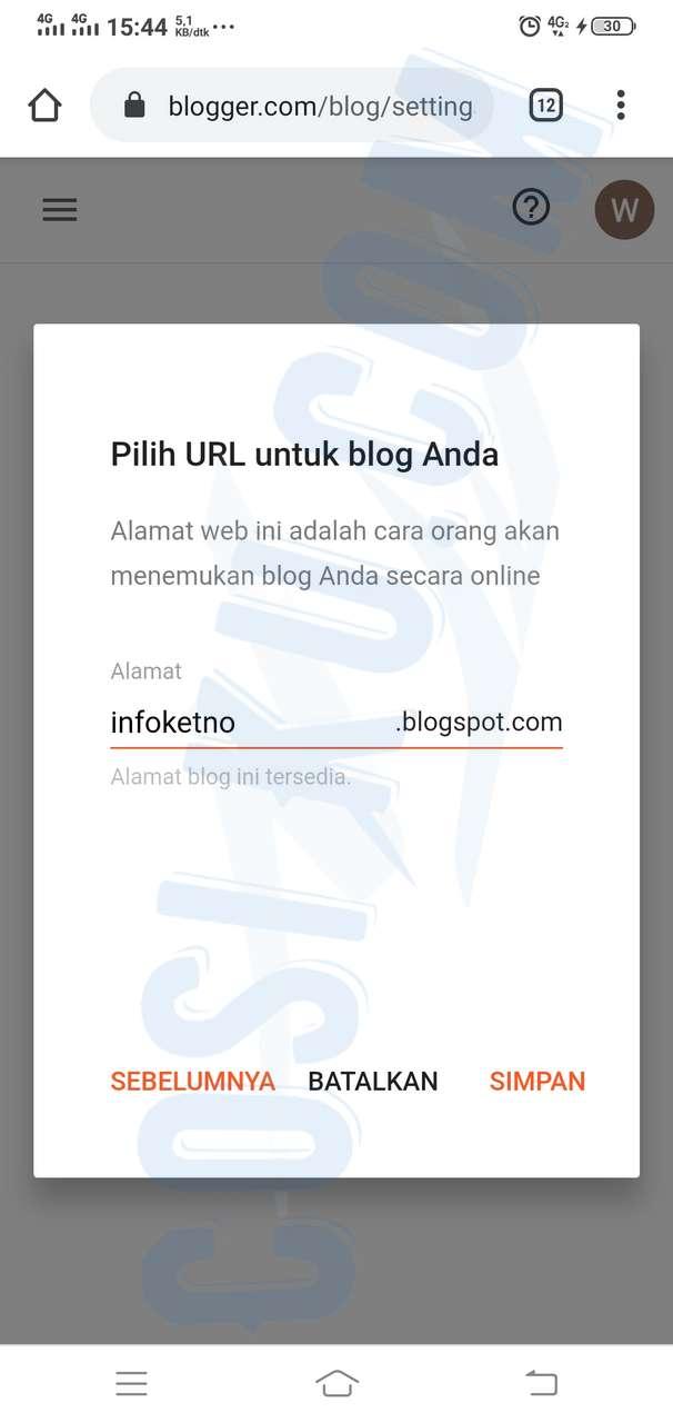 Cara Berhasil Membuat Blog Gratis di Blogger.com sampai bisa di Indeks Google