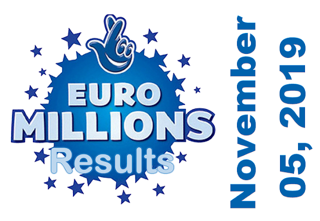 EuroMillions Results for Tuesday, November 05, 2019