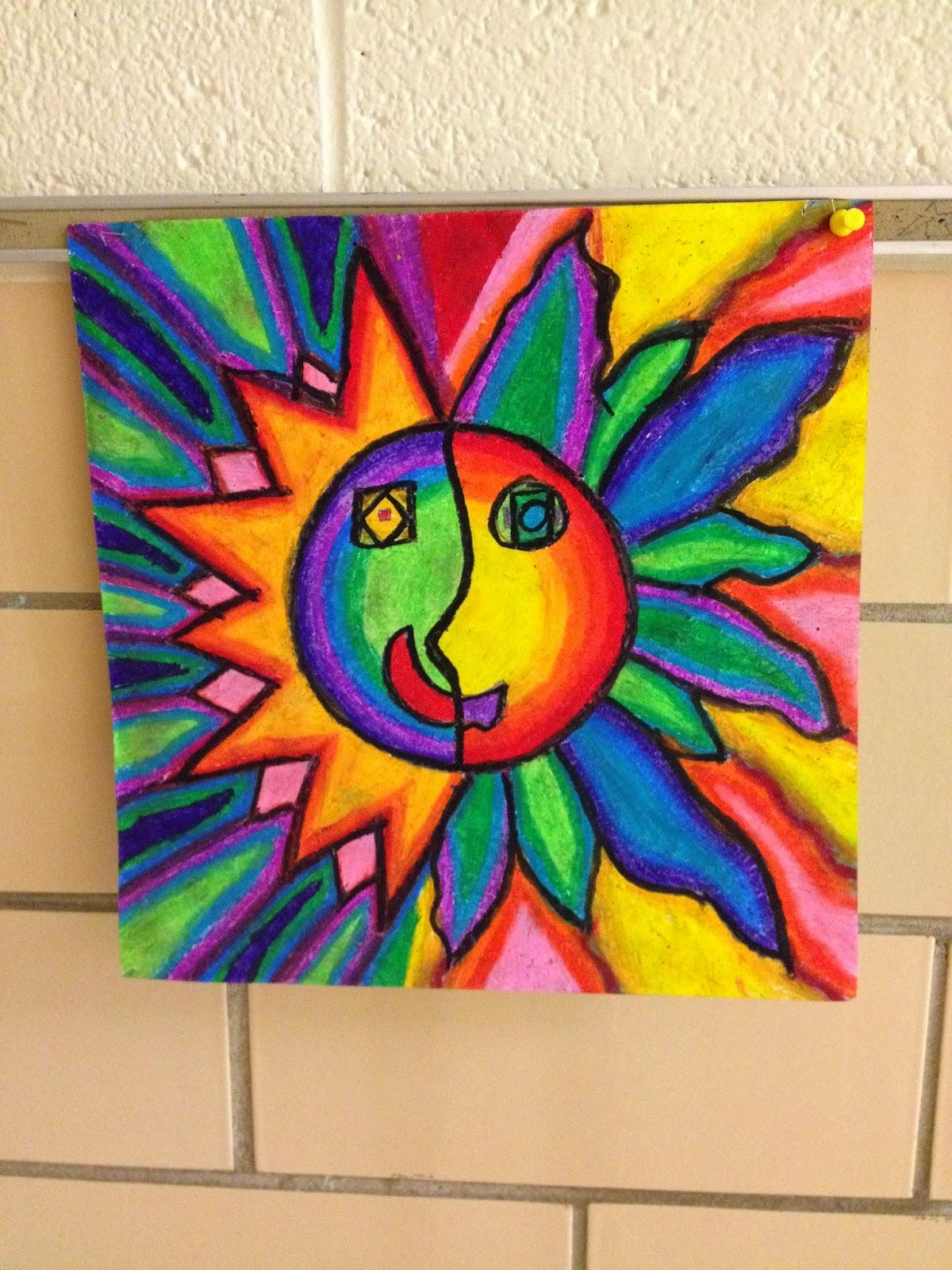WHAT'S HAPPENING IN THE ART ROOM??: 4th Grade Aztec Sun ...
