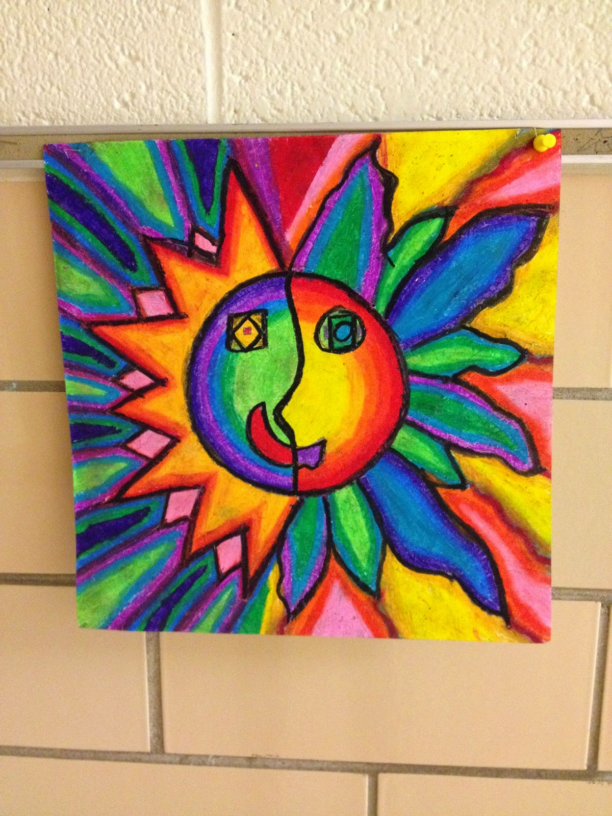 What S Happening In The Art Room 4th Grade Aztec Sun
