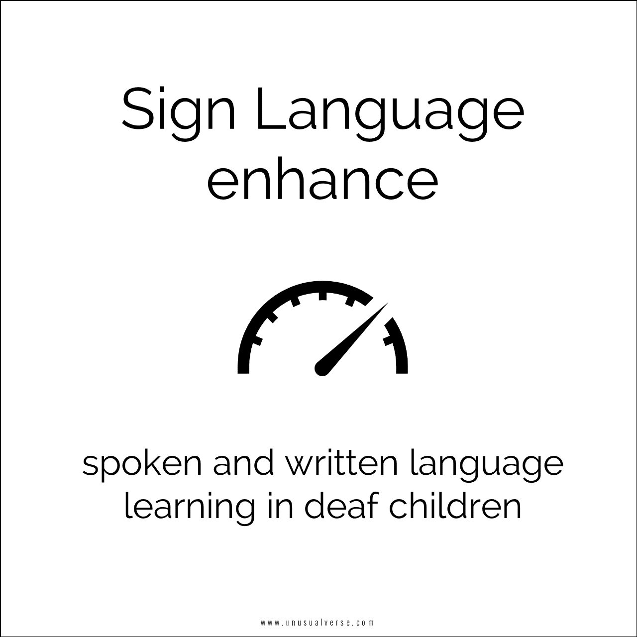 Sign Language enhance spoken and written language learning in deaf children