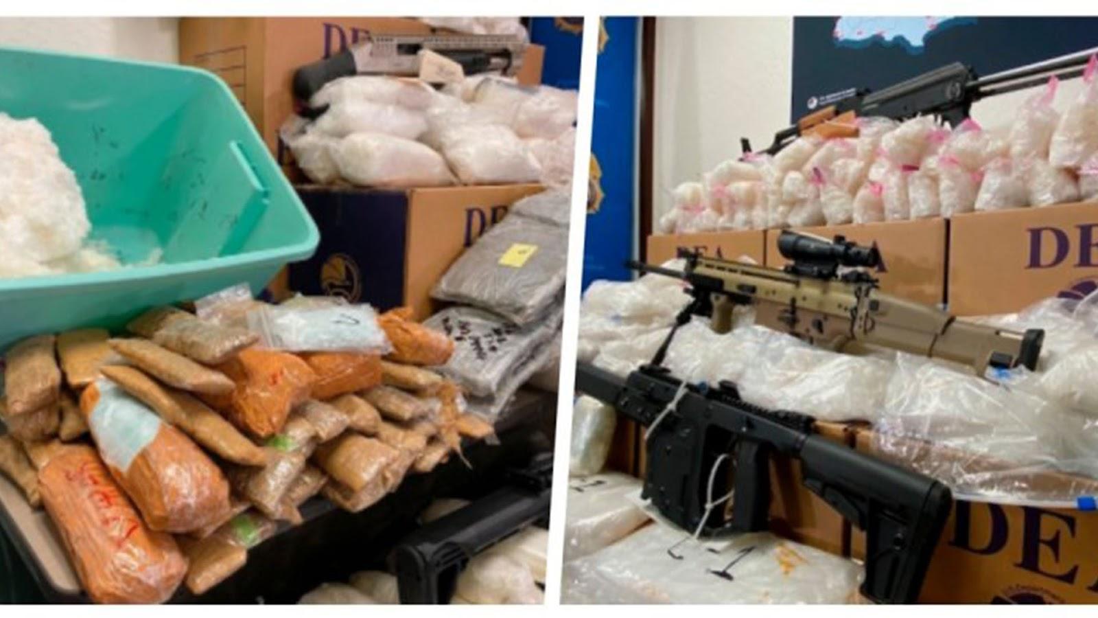 Duro golpe al Cártel de Sinaloa y CJNG; les incautan drogas y arrestan a 1840 miembros en EU