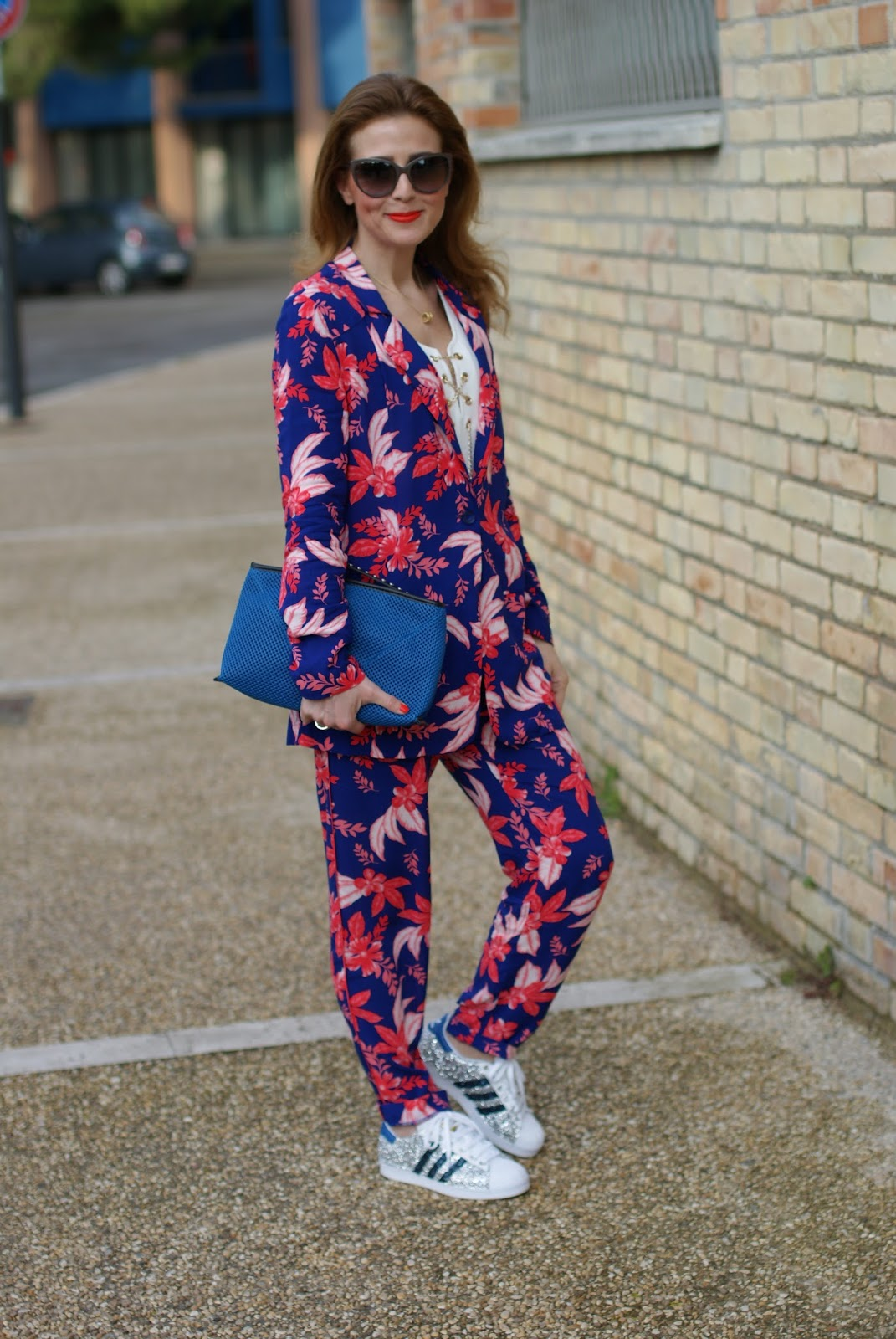 The pyjama trend and lace up top on Fashion and Cookies fashion blog, fashion blogger style