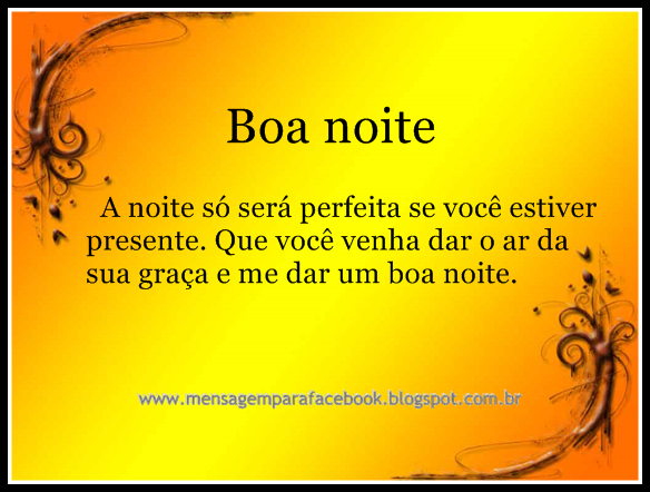 Boa Noite Amor Tumblr: Mensagens Para Facebook: Boa Noite