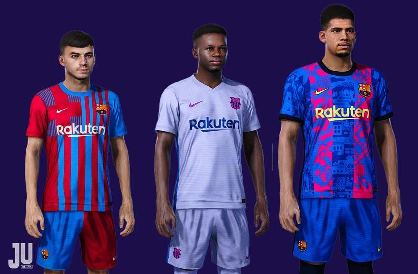 FC Barcelona Kit Season 2021-2022 For eFootball PES 2021