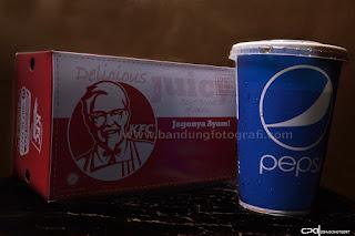 jasa foto produk di bandung, jasa foto katalog produk, jasa foto fast food, KFC jagonya ayam