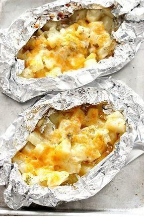 Cheesy Potatoes Foil Packs Recipe
