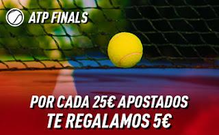 sportium Promo ATP Finals: Por cada 25€ ¡Te damos 5€! hasta 17-11-2019