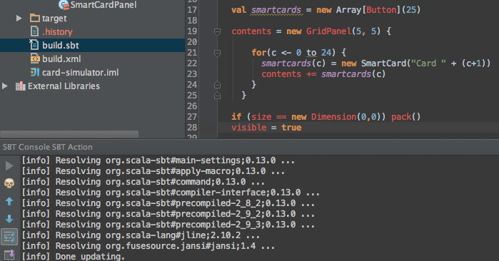 Setting Up IntelliJ and sbt for Scala development | Hanxue