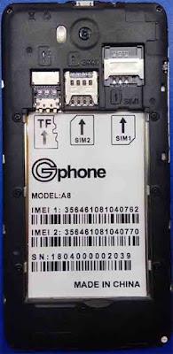 Gphone A8 Flash File