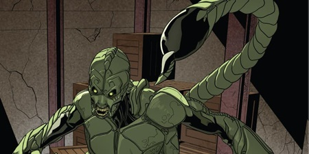 Scorpion muncul pertama kali dalam komik The Amazing Spiderman #19