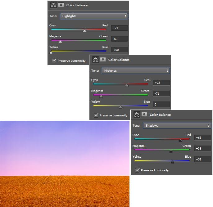 Pengaturan-dan-hasil-merubah-warna-dengan-color-balance-di-Photoshop