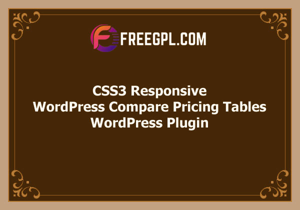 CSS3 Responsive WordPress Compare Pricing Tables Free Download