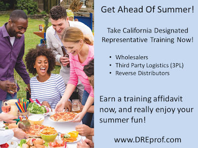 Learn more and buy our California Exemptee Training or California Designated Representative Training - more than 6,000 students have taken our state license-related training programs
