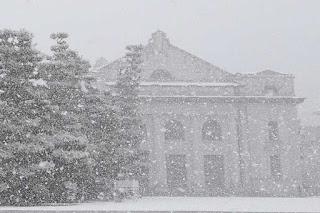 雪の海上自衛隊第1術科学校