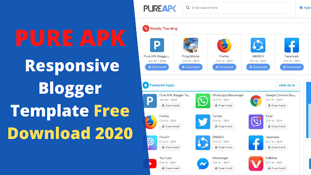 Pure APK Blogger Template Free Download