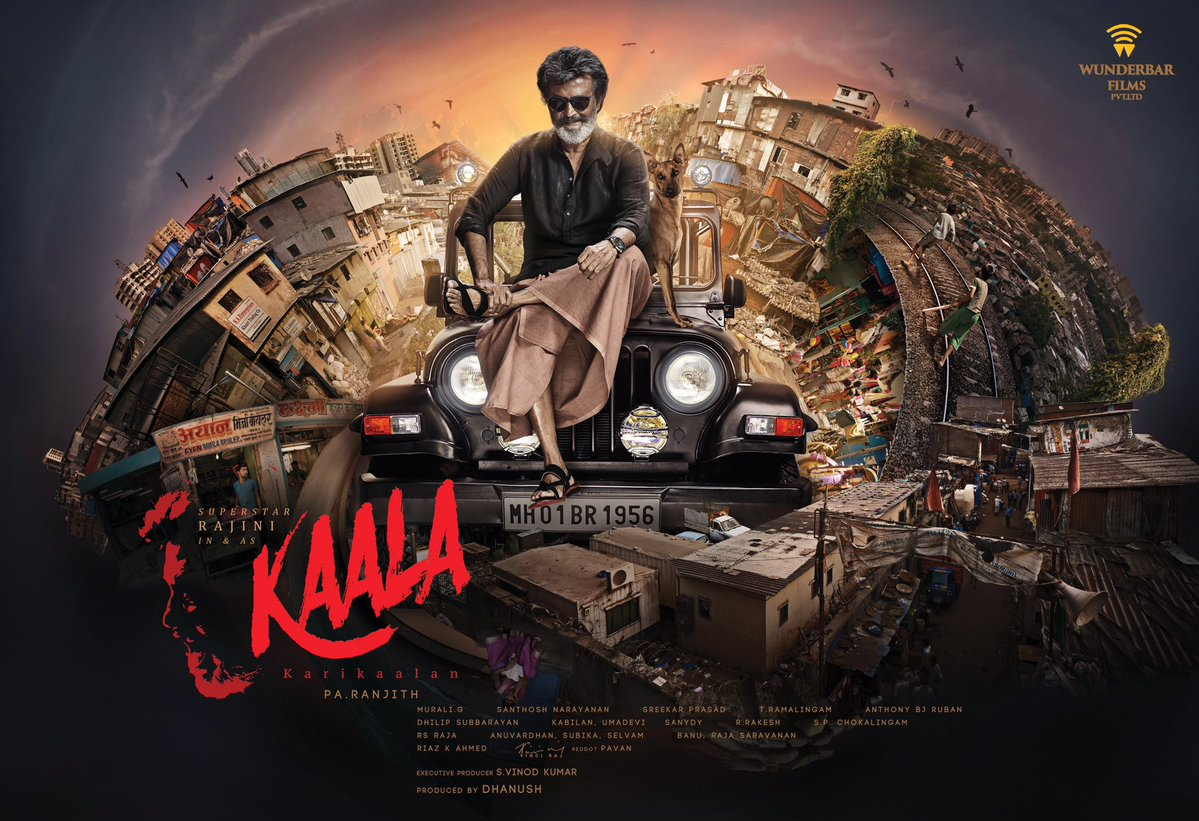 Rajinikanth's Kaala Movie Official English Poster