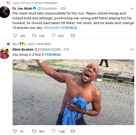 Nigerians React to Croatia 2-0 Nigeria Defeat