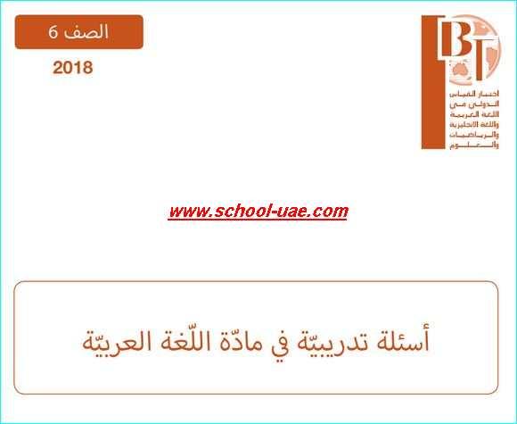 نموذج امتحان تدريبى IBT  لغة عربية للصف السادس 2020