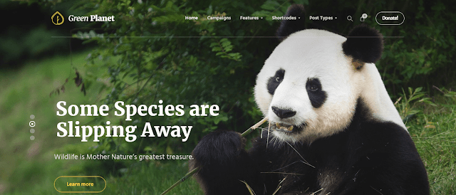 Best Nonprofit Environment WordPress Themes With Donation System |  Green Planet