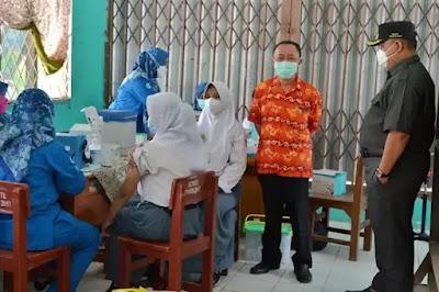 Puskesmas Tarumajaya Laksanakan Gebyar Vaksin Jabar Juara Untuk Siswa SMUN 1 Tarumajaya