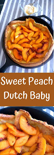 A showstopper presentation is made when you serve this deliciously light and fluffy Dutch Baby filled with juicy ripe peaches at your next breakfast or brunch! - Slice of Southern
